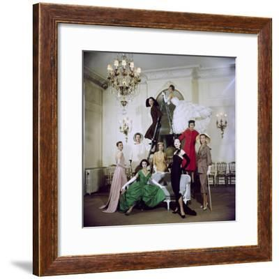 Models Posing in New Christian Dior Collection-Loomis Dean-Framed Premium Photographic Print