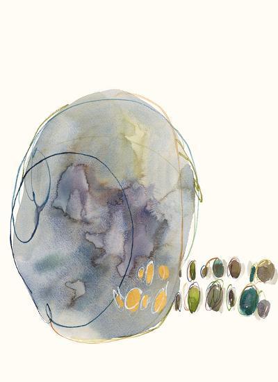 Modern Abstract V--Hand Embellished Art