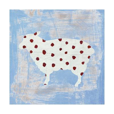 Modern Americana Farm II on Blue-Melissa Averinos-Art Print