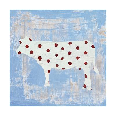 Modern Americana Farm IV on Blue-Melissa Averinos-Art Print