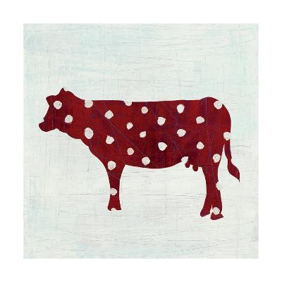 Modern Americana Farm IV on White-Melissa Averinos-Art Print