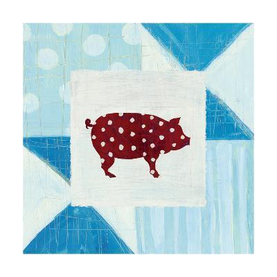 Modern Americana Farm Quilt I-Melissa Averinos-Art Print