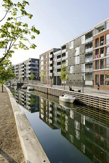 Modern Architecture, Apartments in Sluseholmen, Copenhagen, Denmark, Scandinavia-Axel Schmies-Photographic Print