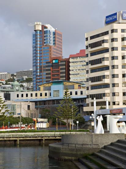 Modern Architecture Around the Civic Square, Wellington, North Island, New Zealand-Don Smith-Photographic Print