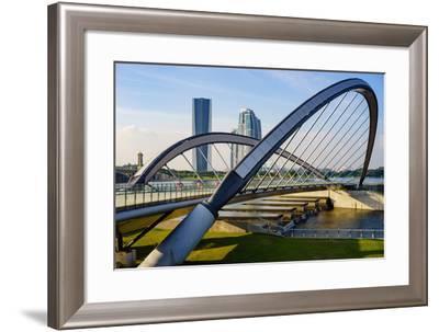 Modern Architecture Design of a Pedestrian Bridge in Putrajaya, Malaysia- mozakim-Framed Photographic Print