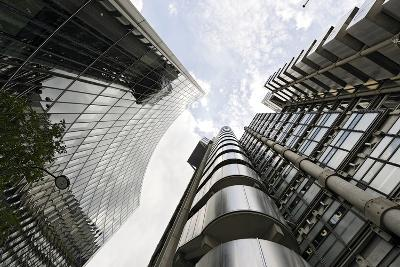 Modern Architecture, Lloyd'S, Lloyds Building, Tower by Architect Richard Rogers, London-Axel Schmies-Photographic Print