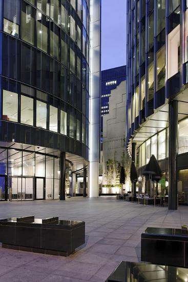 Modern Architecture, Office Buildings, Dusk, Fenchurch Street, London, England, Uk-Axel Schmies-Photographic Print