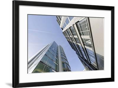 Modern Architecture, Office Buildings, International Coffee Plaza, Hafencity, Hamburg-Axel Schmies-Framed Photographic Print