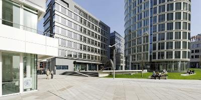 Modern Architecture, Office Buildings, International Coffee Plaza, Hafencity, Hamburg-Axel Schmies-Photographic Print