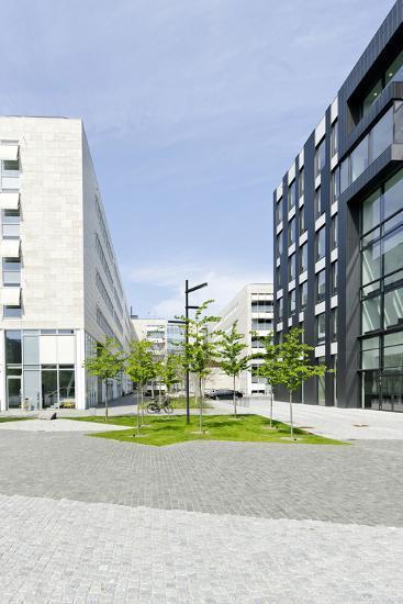 Modern Architecture, University District, Orestad, Amager, Copenhagen, Denmark, Scandinavia-Axel Schmies-Photographic Print
