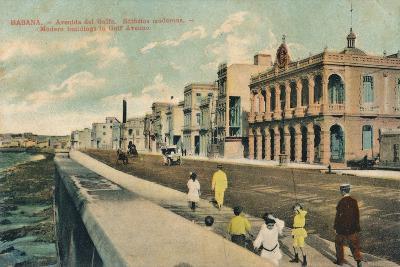 Modern Buildings in Gulf Avenue, Havana, Cuba, C1910--Giclee Print
