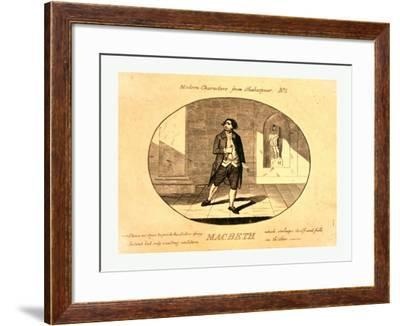 Modern Characters from Shakespeare. Macbeth--Framed Giclee Print