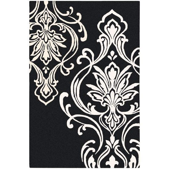 Modern Classics Area Rug - Black/Ivory 5' x 8'--Home Accessories