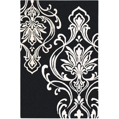 Modern Classics Area Rug - Black/Ivory 5' x 8'