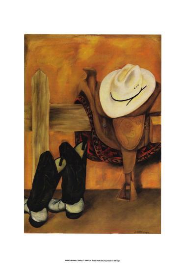 Modern Cowboy-Jennifer Goldberger-Art Print