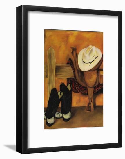 Modern Cowboy-Jennifer Goldberger-Framed Art Print