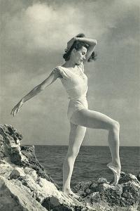 Modern Dancer on Rocks