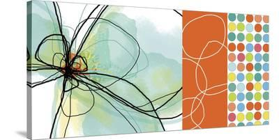Modern Dots Orange-Jan Weiss-Stretched Canvas Print
