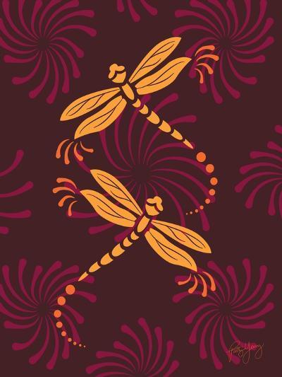 Modern Dragonflies-Patty Young-Art Print