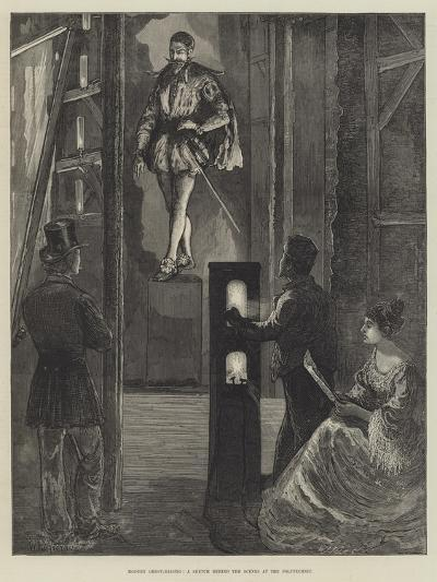 Modern Ghost-Raising, a Sketch Behind the Scenes at the Polytechnic-William Bazett Murray-Giclee Print