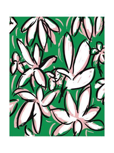 Modern Green Floral-Jan Weiss-Photographic Print
