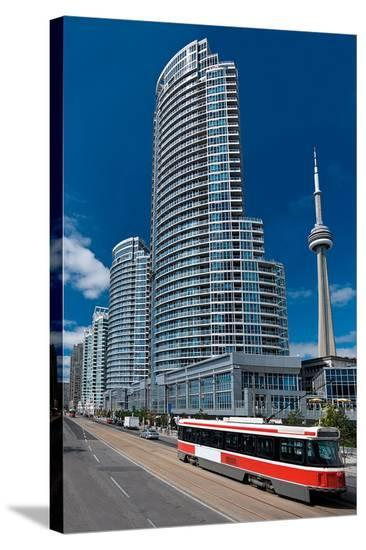 Modern Living in Toronto--Stretched Canvas Print
