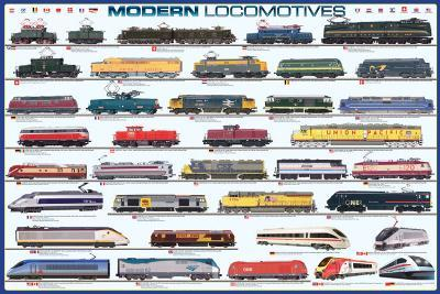 Modern Locomotives--Poster