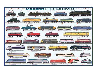 Modern Locomotives--Art Print