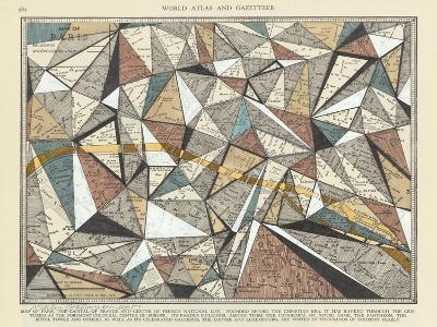 Modern Map of Paris-Nikki Galapon-Art Print