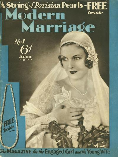 Modern Marriage, Weddings Marriages Brides First Issue Magazine, UK, 1931--Giclee Print