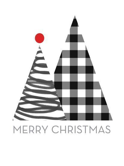 Modern Merry Christmas-Linda Woods-Art Print