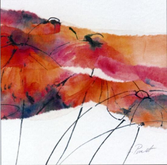 Modern Poppy I-Peuchert-Art Print