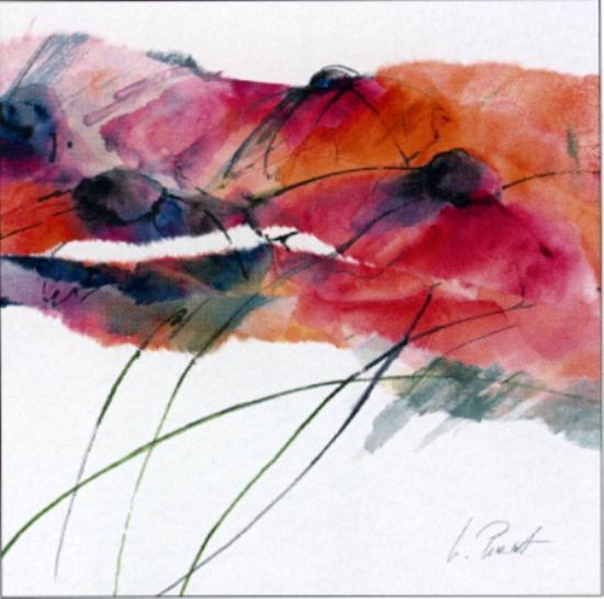 Modern Poppy II-Peuchert-Art Print