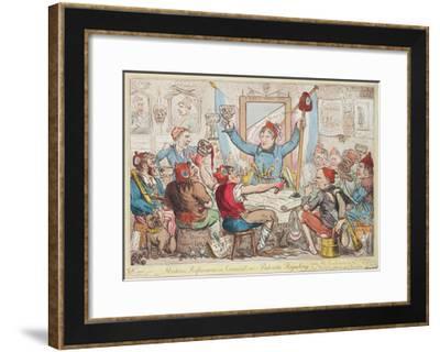Modern Reformers in Council - or - Patriots Regaling, 1818-Isaac Robert Cruikshank-Framed Giclee Print