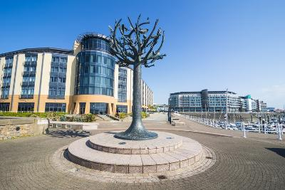 Modern Sculpture in the Harbour of St. Helier, Jersey, Channel Islands, United Kingdom, Europe-Michael Runkel-Photographic Print