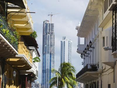 Modern Skyscrapers and Historical Old Town, UNESCO World Heritage Site, Panama City, Panama-Christian Kober-Photographic Print