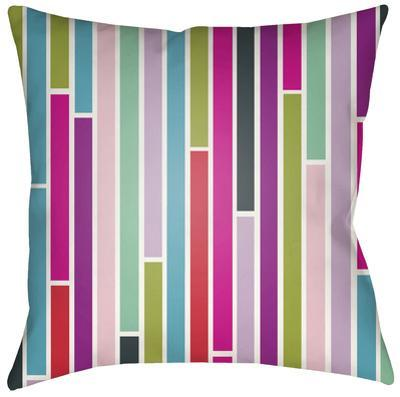 Modern Subway Pillow - Pink Multi