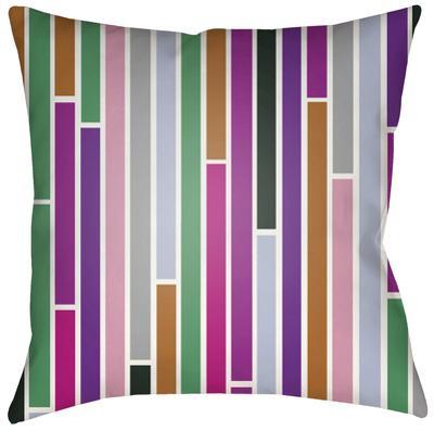 Modern Subway Pillow - Purple Multi
