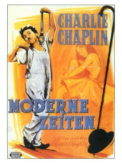 Modern Times, German Movie Poster, 1936--Art Print