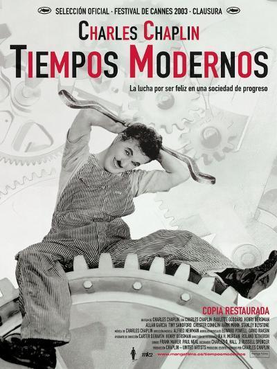 Modern Times, Spanish Movie Poster, 1936--Art Print
