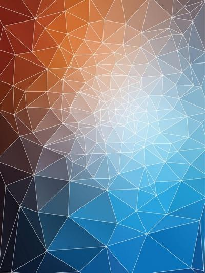 Modern Triangle Mesh Stained Glass Mosaic Design-traffico-Art Print