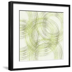 Abstract Circles In Summer Green by Modern Tropical