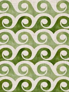 Retro Waves In Green by Modern Tropical