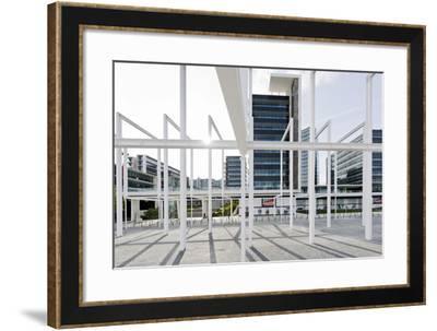 Modern Urban Architecture, Parque Das Nacoes, Lisbon-Axel Schmies-Framed Photographic Print
