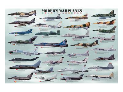 Modern Warplanes--Art Print
