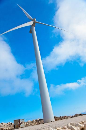 Modern Wind Turbine against Sky-EvanTravels-Photographic Print