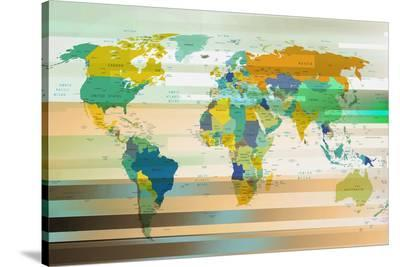 Modern World Map III--Stretched Canvas Print