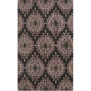 Moderne Area Rug - Charcoal/Dusky Rose 5' x 8'
