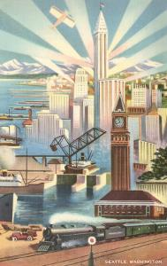 Modernist Poster of Seattle, Washington