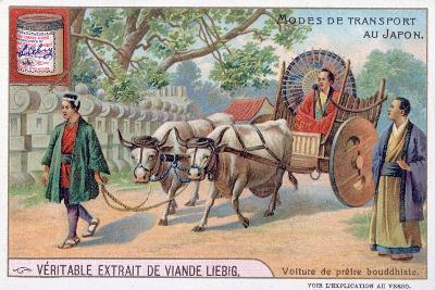 Modes of Transport in Japan, Convey of a Buddhist Priest, 19th Century-Justus Freiherr von Liebig-Giclee Print